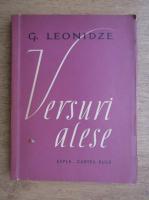 Anticariat: G. Leonidze - Versuri alese