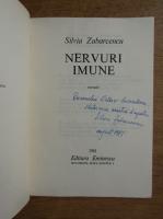 Anticariat: Silvia Zabarcencu - Nervuri imune (cu autograful autoarei)
