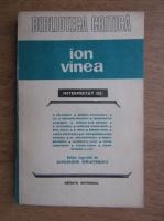 Anticariat: Ion Vinea