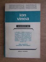 Ion Vinea