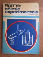 Anticariat: Vasile Cristea - Fise de chimie experimentala pentru licee