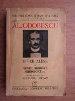 Alexandru Odobescu - Opere alese (volumul 2, 1941)