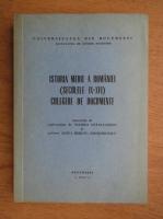 Florea Stanculescu - Istoria mediei a Romaniei (secolele IX-XVI) culegere de documente