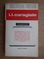 Anticariat: I. L. Caragiale interpretat de (Biblioteca Critica)
