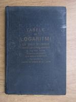 Anticariat: Tabele de logaritmi cu cinci zecimale (1941)