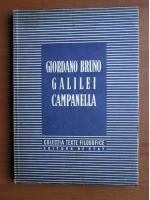 Anticariat: Giordano Bruno, Galilei, Campanella