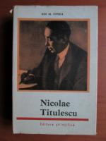 Anticariat: Ion M. Oprea - Nicolae Titulescu
