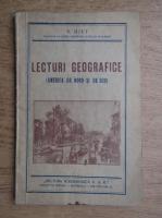 V. Hilt - Lecturi Geografice, America de nord si de sud (1940)