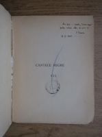 Anticariat: Ion Caraion - Cantece negre (cu autograful autorului, 1946)