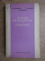 Anticariat: D. D. Drasoveanu - Analize gramaticale si stilistice
