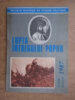 Anticariat: Revista Romana de Istorie Militara. Lupta intregului popor, numar special 1987