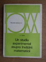 Anticariat: Z. P. Dienes - Un studiu experimental asupra invatarii matematicii