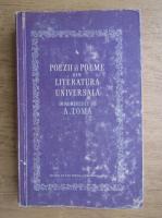 Anticariat: A. Toma - Poezii si poeme din literatura universala