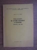 G. D. Iscru - Prelegeri de istorie moderna a romaniei