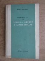 Anticariat: Florica Dimitrescu - Introducere in fonetica istorica a limbii romane
