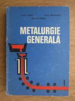 Anticariat: Sanda Oprea - Metalurgie generala