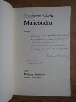 Anticariat: Constantin Olariu - Malicondra (cu autograful autorului)