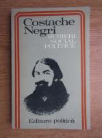 Anticariat: Costache Negri - Scrieri social politice