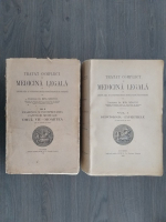 Mina Minovici - Tratat complet de medicina legala cu legislatia si jurisprudenta romaneasca si straina (2 volume, 1928)