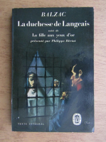 Honore de Balzac - La Duchesse de Langeais