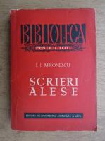 Anticariat: I. I. Mironescu - Scrieri alese