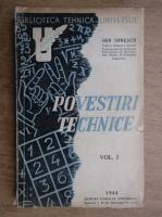 Anticariat: Ion Ionescu - Povestiri tehnice (volumul 1, 1944)
