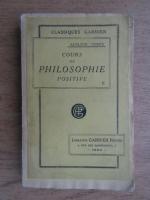 Auguste Comte - Cours de philosophie positive (volumul 2)