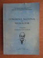 Congresul National de Neurologie. Rapoartele si rezumatele comunicarilor