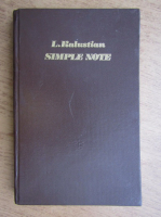 Anticariat: L. Kalustian - Simple note