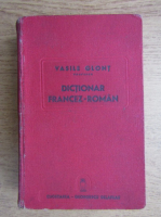 Anticariat: Vasile Glont - Dictionar fracez-roman (1939)