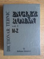 Cornel Cincu - Dictionar tehnic englez-roman (volumul 2)