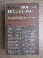 Anticariat: H. W. Fowler - A dictionary of modern english usage