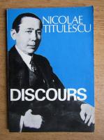 Nicolae Titulescu - Discours
