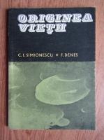 Anticariat: C. I. Simionescu - Originea vietii