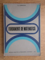 Anticariat: Gavril Samboan - Fundamente de matematica