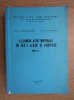 Alexandru Boboc - Filosofia contemporana in texte alese si adnotate (partea I)