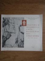 Corina Nicolescu - Miniatura si ornamentul cartii manuscrise din Tarile Romane