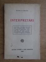Anticariat: Mihai D. Ralea - Interpretari (1927)