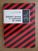 B. Popa - Solicitari termice in constructia de masini
