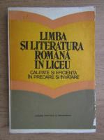 Anticariat: Constanta Barboi - Limba si literatura romana in liceu