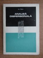 Anticariat: Ion Vaduva - Analiza dispersionala