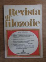 Revista de filozofie, nr. 2, 1981