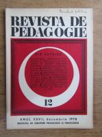 Anticariat: Revista de pedagogie, nr. 12, 1978