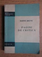 Anticariat: Sainte Beuve - Pagini de critica