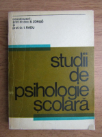 Anticariat: Beniamin Zorgo, Ioan Radu - Studii de psihologie scolara