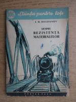 Anticariat: I. M. Bogdanov - Despre rezistenta materialelor