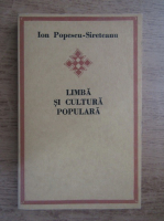 Anticariat: Ion Popescu Sireteanu - Limba si cultura populara