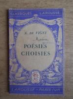 Anticariat: Alfred de Vigny - Poesies choisies