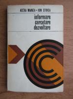 Anticariat: Ion Stoica - Informare, cercetare, dezvoltare