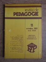 Anticariat: Revista de pedagogie, nr. 11, noiembrie 1982